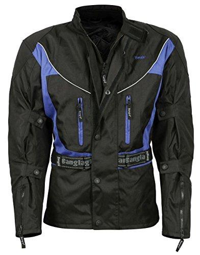 Bangla Motorradjacke Touren Jacke Textil 017a Blau Schwarz 6XL