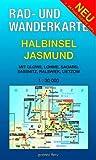 Rad- und Wanderkarte Halbinsel Jasmund: Mit Glowe, Lohme, Sagard, Sassnitz, Ralswiek, Lietzow. Maßstab 1:30.000.