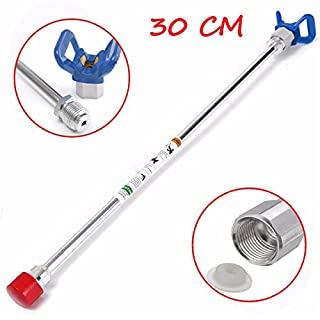 EsportsMJJ 30cm Airless Paint Sprayer Spray Gun Tip Extension Rod for Graco Titan Wagner