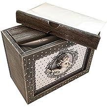 Envejecido Raw madera gris caja de álbum de fotos rústico Shabby 48 ...