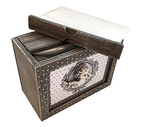 Envejecido Raw madera gris caja de álbum de fotos rústico Shabby 48fotos 6x 4