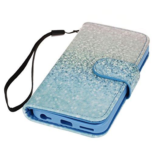 PU Cuir Coque Strass Case Etui Coque étui de portefeuille protection Coque Case Cas Cuir Swag Pour Apple iPhone 5C +Bouchons de poussière (4XO) 5