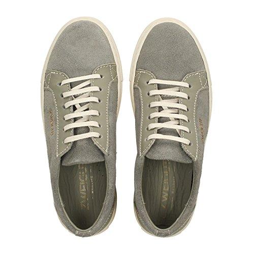 Zweigut Hamburg- Echt #411 Damen upcycling Leder-Sneaker Schuhe Aus dem Leder Alter Autositze Grau