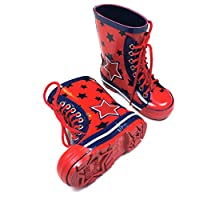 Blade & Rose Boys Star Wellington Boot - Size UK 3 Blue