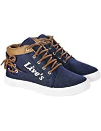 My Cool Step High Neck Lives Lace Up Casual Shoes For Men