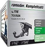 Rameder Komplettsatz, Anhängerkupplung abnehmbar + 13pol Elektrik für VW TOURAN (113119-10449-5)