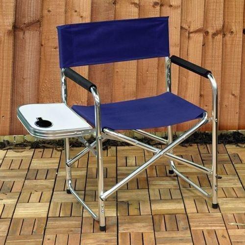 Neuf en aluminium pliable Directors Chaise Table de pique-nique Jardin extérieur Camping