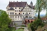 "Alu-Dibond-Bild 140 x 90 cm: ""Castle in Heiligenberg, Germany"", Bild auf Alu-Dibond"