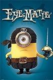 Minions Eye Matie Pirat - Kinder Poster Druck - Grösse 61x91,5 cm + 1 Ü-Poster der Grösse 61x91,5cm