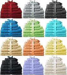 Idea Regalo - Heim24h - Set da 10 pezzi composto da 2 asciugamani, 2 teli doccia, 2 asciugamani per ospiti, 2 guanti da bagno, 2 tappetini da bagno, in cotone pesca