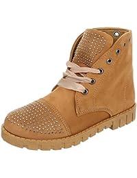 Zapatos para mujer Botas Plano Botines de cordones Ital-Design
