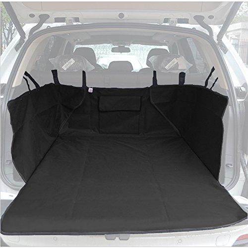 Kofferraumschutzdecke,Wasserdicht Doppelt Zweiseite Verdickung Hundedecke Auto mit Tasche,Schwarz