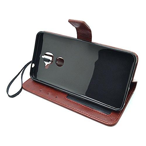 Bracevor LeEco Le2 Premium Leather Case *Inner TPU, Wallet Stand, Flip Cover – Executive Brown