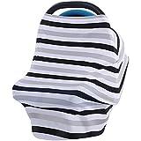 Samber Landeau Couverture Bébé Poussette Couverture Multifonctionnel en Coton Souple Anti-UV Vent Pluie protection Siège Voiture Enfant