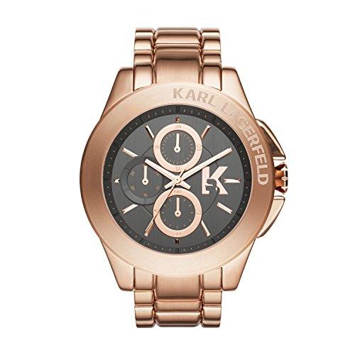 Karl Lagerfeld Unisex-Armbanduhr Chronograph Quarz Edelstahl KL1410