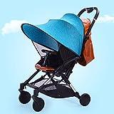 Kinderwagen Sonnenschutz mit UV Schtuz,Sonnendach Sonnensegel Kinderwagen,für Buggys und Kinderwagen (Blau)