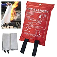 Fire Blanket Quick Release In Soft Case For Home/Office/Caravan/kitchen/Garage/warehouse easy open in Emergency 1 m x 1 m by NMIT