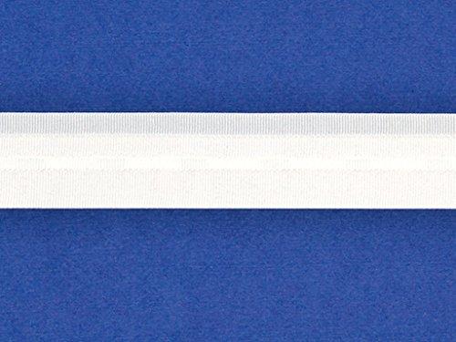 Pieghevole e di tenda a pacchetto con nastri lotos–larghezza: 26mm–colore: bianco rapport: 43mm–10meter