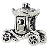 So Chic Joyas - Abalorio Charm Carro príncipe princesa de automóviles Transporte - Compatible con Pandora, Trollbeads, Chamilia, Biagi - Plata 925
