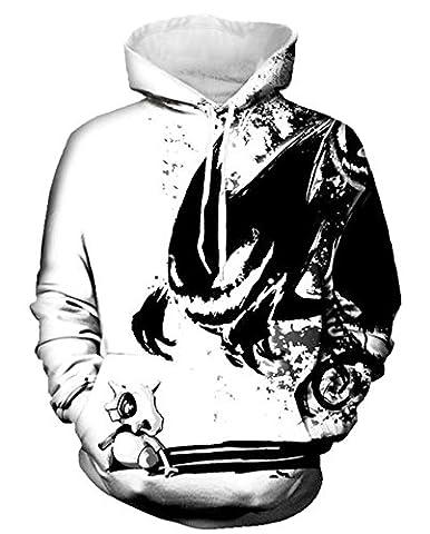 Ecohaso Herren Damen 3D Druck Sweatshirts Weihnachten Pullover mit Aufdruck Herbst Hemd Kapuzenpullover Langarm Top Jumper Shirt (S/M, (M Und S Christmas Jumper)