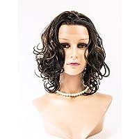parrucche sintetiche dei capelli dei capelli dell'onda del corpo anteriore del merletto parrucche parrucche stile di celebrità per le , 24 inch-dark auburn