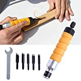 SODIAL 1 Set di attrezzi per intagliare il legno Set di attrezzi per Chuck per l'albero flessibile del trapano elettrico