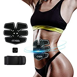 IMATE Abdominal Muscle Trainer Abs Trainer EMS Abdominal Muscle Toning Belt Exercise Machine Home Fitness Training Gear For Men and Women