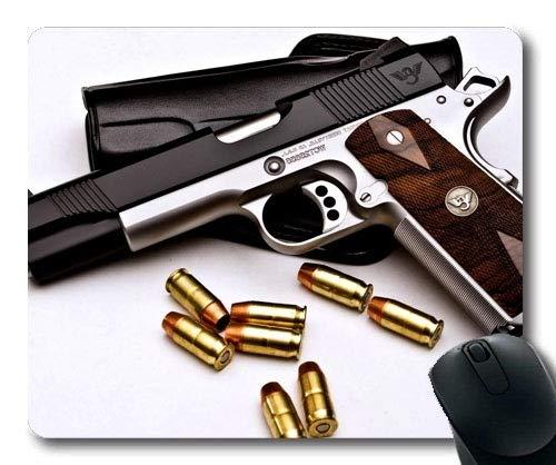 Alfombrilla de ratón Grande para Juegos, Pistola nerf, Pistola más Reciente, Alfombrilla de ratón con Bordes cosidos