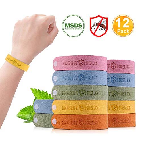 Mückenschutz Armband, 12 Stück Anti Mücken Armband Reusable Anti Mosquito Bracelet Natürlichen Öl Sicheres Deef-Freies und Wasserdichtes Insektenschutz-Armband für Kinder, Erwachsene - Citronella Öl, Mückenschutz