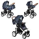 My Junior+® Miyo 3in1 Kombikinderwagen Komplettset bis zum 4.Lebensjahr---3 Years Guarantee---+Autositz  Premium Kinderwagen