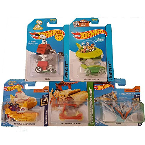 Hot Wheels Pack Jetsons, Milano, Yellow Submarine, Snoopy, Flintstones