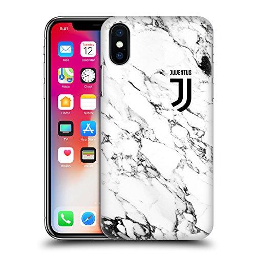 Head case designs ufficiale juventus football club bianco 2017/18 marmoreo cover retro rigida per iphone x/iphone xs