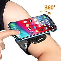 Bovon Brassard pour Smartphone, 360° Rotation Porte Téléphone Sport, Universel Armband Réglable pour Jogging & Gym Compatible avec iPhone 11 Pro Max/11/XR/XS Max/X/8, Samsung Note 10/S10 Plus/S10e etc