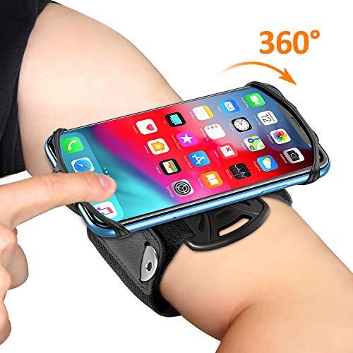 Bovon Porta Cellulare Braccio, Rotazione a 360° Fascia Porta Cellulare Running per Jogging Trekking Palestra, Fascia da Braccio Regolabile per iPhone 11 PRO Max/XR/8 Plus,Samsung Galaxy S10 Plus/S10e