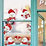 O-Kinee Décoration Noel, Noël Autocollant Fenetre, PVC Vitre Stickers, pour Vitrine Fenetre Vitrophanie Porte Noël Deco DIY