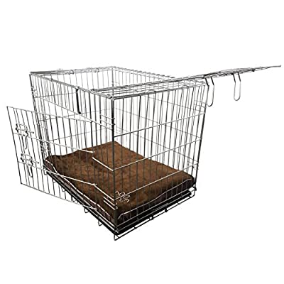 Nemaxx Foldable Transportable Dog Cage in size L black + Dog Pillow