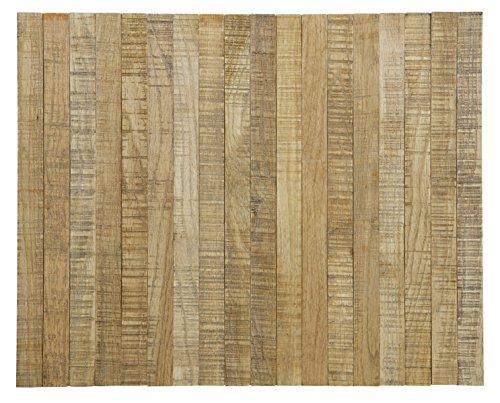 PEGANE Plateau Flexible en chêne Finition Antique - Dim : 36x45 cm