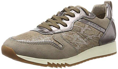 Tamaris Damen Low-Top Sneaker Sneakers 23601, Mehrfarbig (PEPPER COMB 301), 38 (Herstellergröße: 38) (Braune Sneaker Frauen)