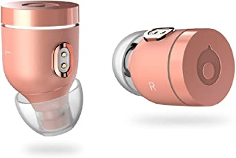 Air by crazybaby (Nano) Wireless Bluetooth Kopfhörer in Ear mit Ladekapsel, Bluetooth 5.0, mit anhaltender Akkulaufzeit für den Ganzen Tag und Mikrofon, Matt Gold