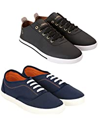 Globalite Men Casual Shoe Sneaker Combo Pack; Code GSC1107_1250; Color Navy/White Size: 6 to 10