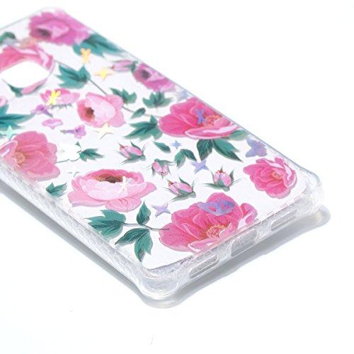 Custodia Galaxy iPhone 6 / 6S, WindTeco Ultra Sottile Custodia Modello Colorato TPU Silicone Gel Protettiva Case per Apple Galaxy iPhone 6 / 6S Pink Flowers