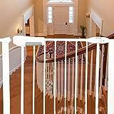 Pet Gates für Treppengeländer an der Wand, extra langes Babytor für Kleinkinder, Weiß Metel (65-194 breit) (größe : Width 118-124cm)