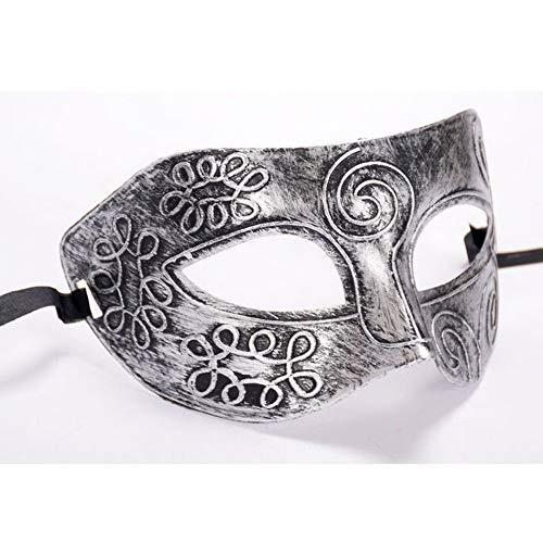 Wajmjff retro gladiatore romano halloween party maschera mascherata per il viso costumi veneziani maschera di carnevale per anonymous martedì, a