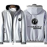 73HA73 Sudadera con Capucha y Cremallera Completa para E-Sports LOL Invictus Gaming Uniform Jacket Teen Fashion Sudadera Deportiva Unisex (No Shirt),Gray,2XL(175-180cm)