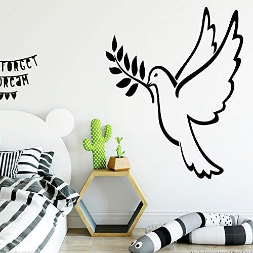 Neue Vogel Selbstklebende Vinyltapete Für Kinderzimmer Wohnzimmer Wohnkultur Pvc Wandtattoos Kaffee XL 58 cm X 72 cm