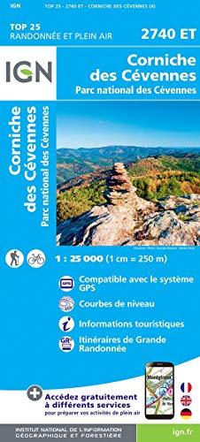 Comiche des Cévennes, Parc national des Cévennes : 1/25 000 par  (Carte - Apr 29, 2019)