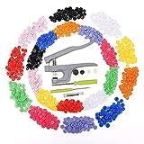 SNAPS Zange Druckknöpfe Druckknopf 300 Set 10 Farben T5 & T3 Scrapbook Nähen DIY Basteln