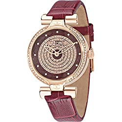 Just Cavalli Women's Quartz Watch with Silver J Analog Quartz Leather R7251579502