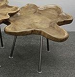 CASABLANCA Teck Table d'appoint, Forme Naturelle H. 45cm