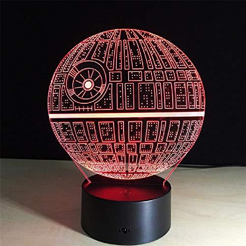 3D Nachtlichter Star Illusion Optical Display Lampe 7 Farbwechsel Tischlampe Touch-Schalter USB-Schnittstelle Geschenk des Kindes Star Touch Screen